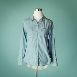 Free People XS Chambray Road Trip Top